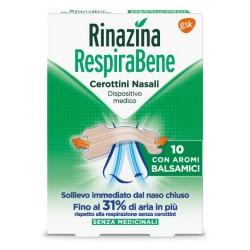 Rinazina RespiraBene 10 cerotti nasali con aromi balsamici