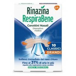 Rinazina RespiraBene 10 cerotti nasali Grandi